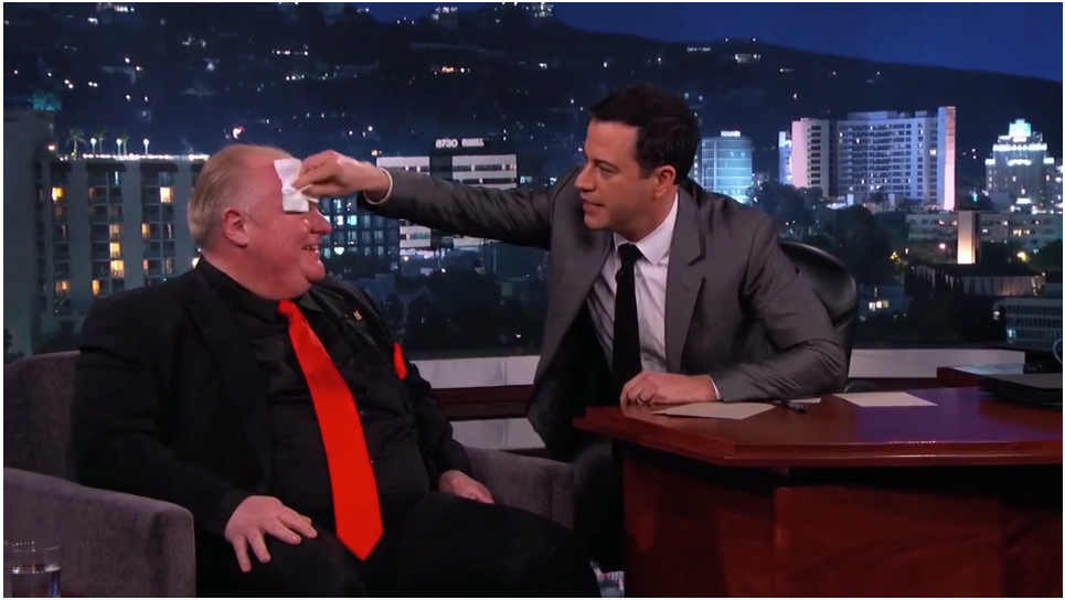 Toronto Mayor Rob Ford on the Jimmy Kimmel Show